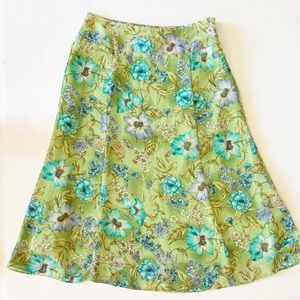 Requirements size 10 floral skirt green